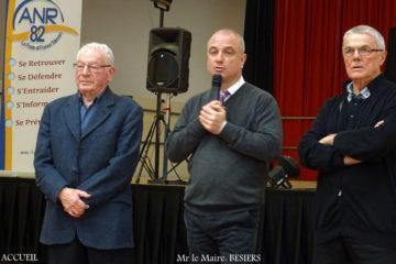 Mr. Bésiers entouré d'André Assémat et de Francis Delpech