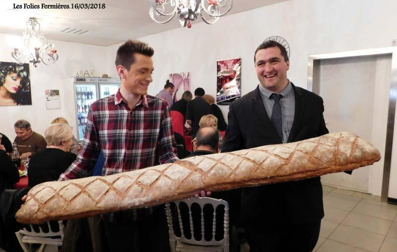 Un record, la longueur de ce pain