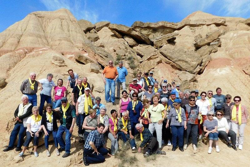 Les participants au voyage en Cantabrie