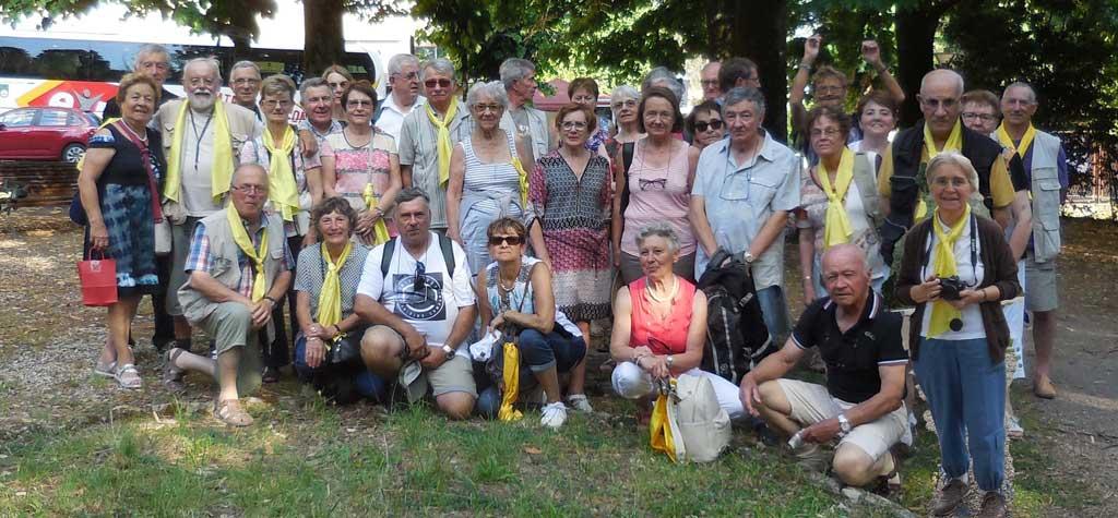 Les participants au voyage en Toscane